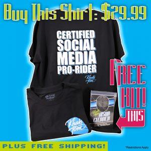 khaki tom t-shirt with free visor cleaner kit